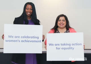 Participants of the International Women's Day Celebration are eager to take action for gender equality.