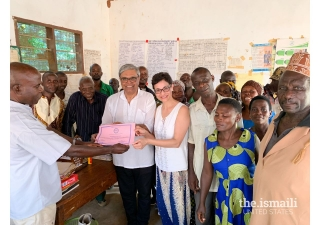 Shelmina and Minaz are recognized by Said Seifu, Chief of the Mgaraganza village.