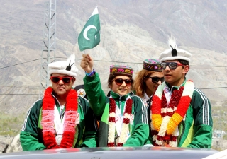 Pakistan Special Olympics medal winners and coach coming home to a heroes welcome