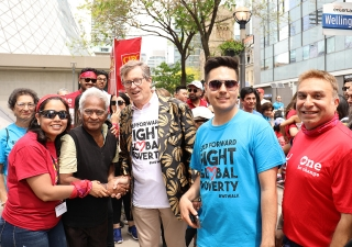 Toronto Mayor John Tory joined the fight against global poverty