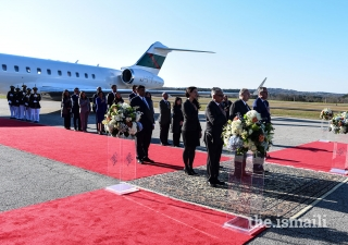 Mawlana Hazar Imam receives a state welcome in Atlanta, Georgia to commence his Diamond Jubilee visit to the USA.
