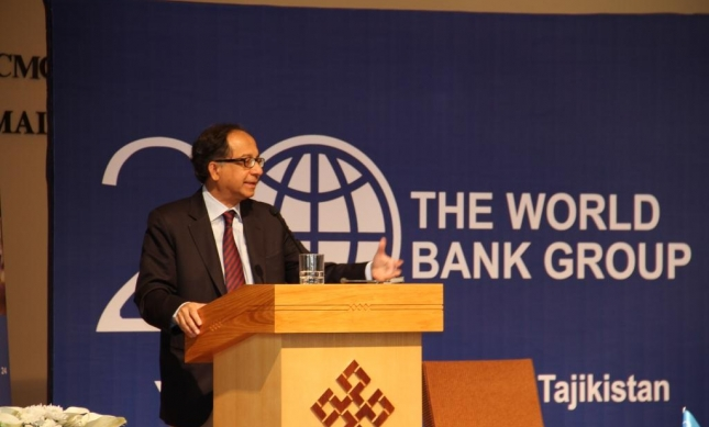 Kaushik Basu, World Bank Chief Economist and Senior Vice President for Development Economics, speaking at the Ismaili Centre, Dushanbe.