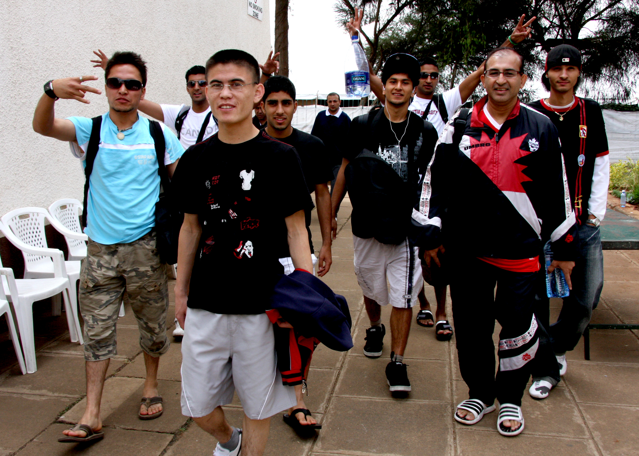 Members of Team Canada arrive for registration at the GJG Village. Photo: Akber Dewji (Hakim Sons)