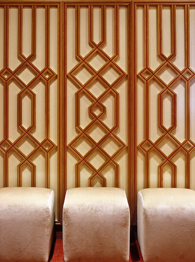 Geometric patterns inspired by the traditions of Islam are repeated in interior decor. Photo: Gary Otte