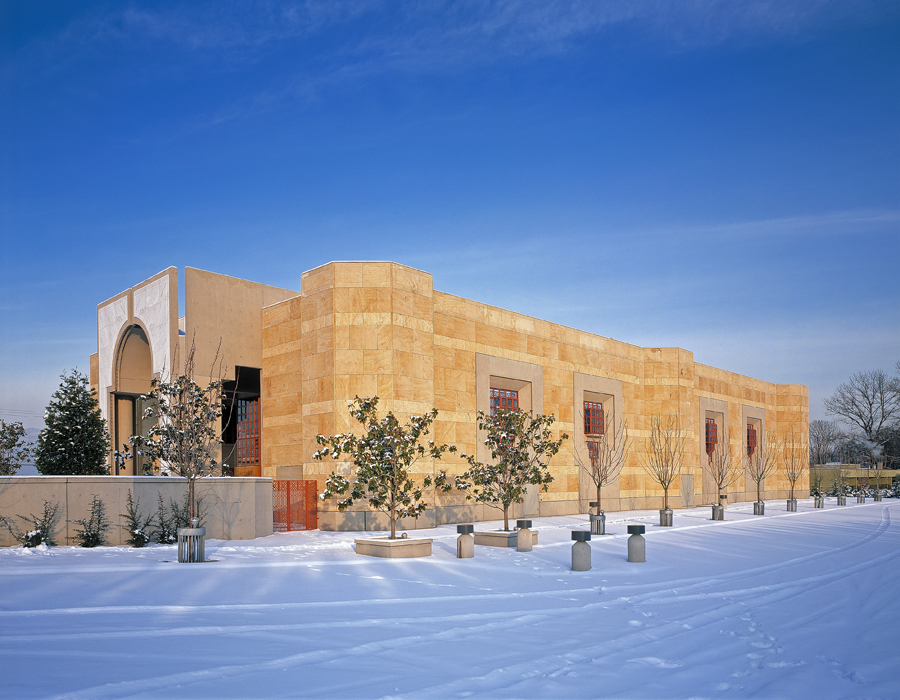 A winter view of the Ismaili Centre, Vancouver from the south-west. Photo: Gary Otte