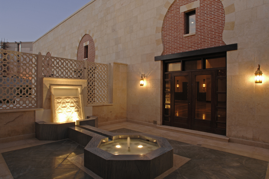 The salsabil water feature is the centrepiece of the intimate Morning Prayer Hall courtyard. Photo: Gary Otte