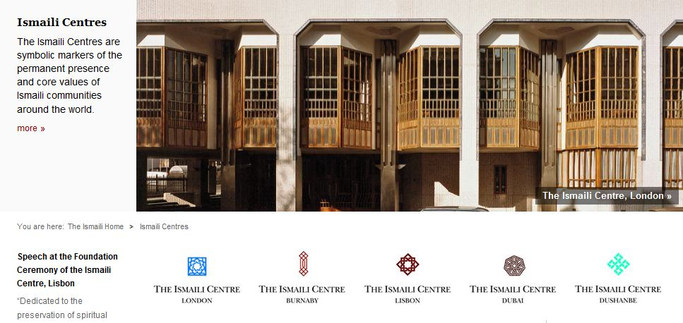 The Ismaili Centres section includes a selection of speeches, photographs, video clips, press releases, as well as architectural and historical information about each Centre. Copyright: TheIsmaili.org