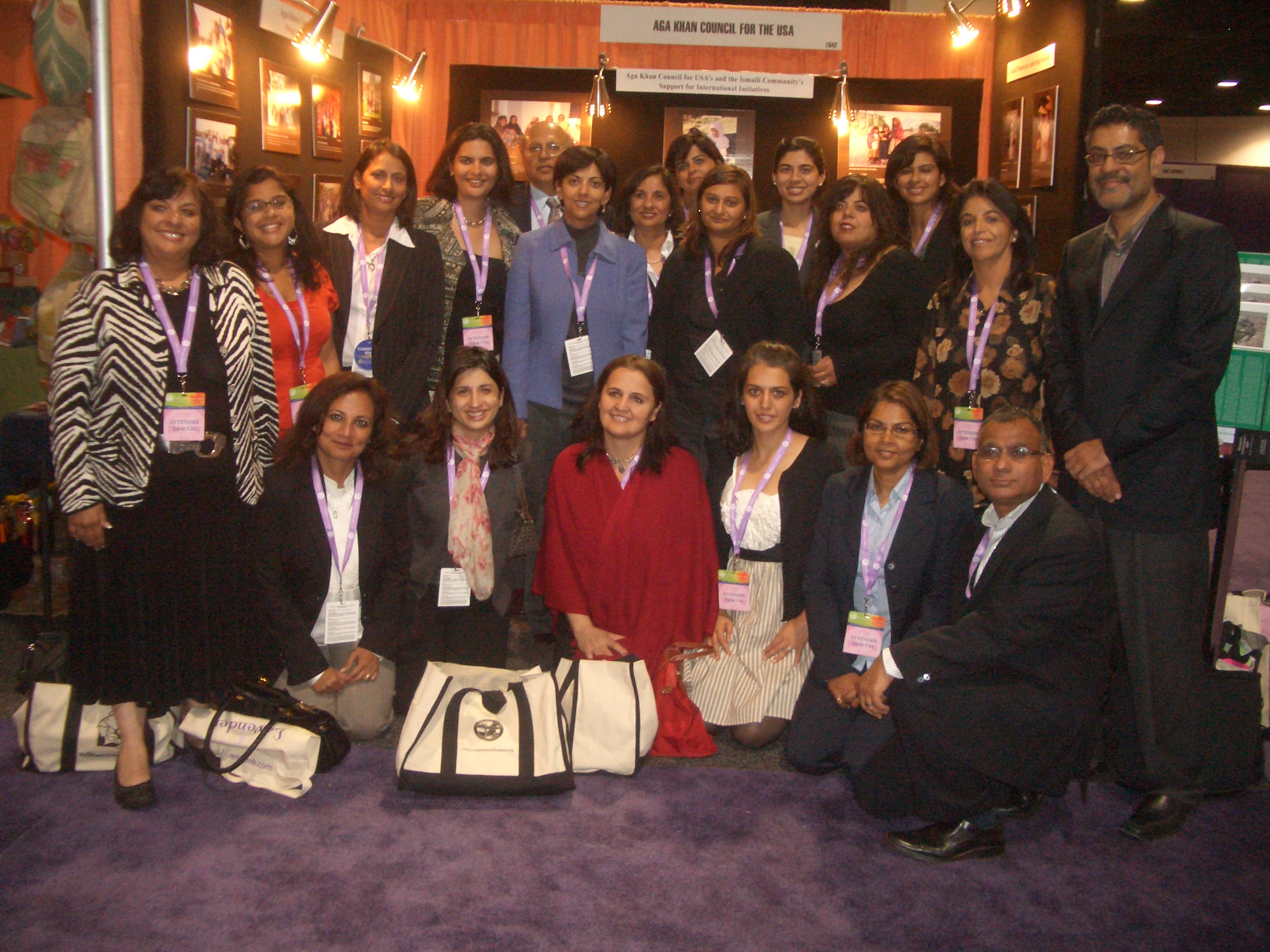Women`s Conference participants at the Ismaili Council for the USA exhibition booth. Photo: Faheen Allibhoy