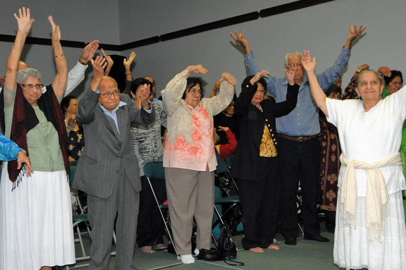 Ismaili Seniors from the Don Mills area take part in an exercise programme at a local Jamatkhana. Photo: Moez Visram