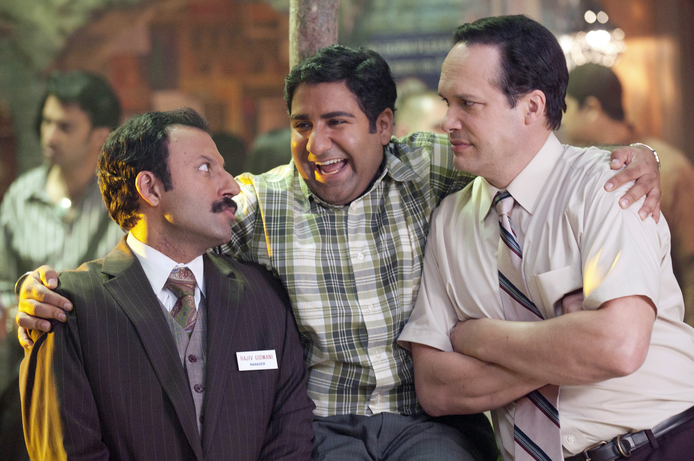 """Outsourced"" is the first American sitcom to feature a primarily South Asian cast, one of whom is Ismaili actor Rizwan Manji. Photo: Chris Haston/NBC"