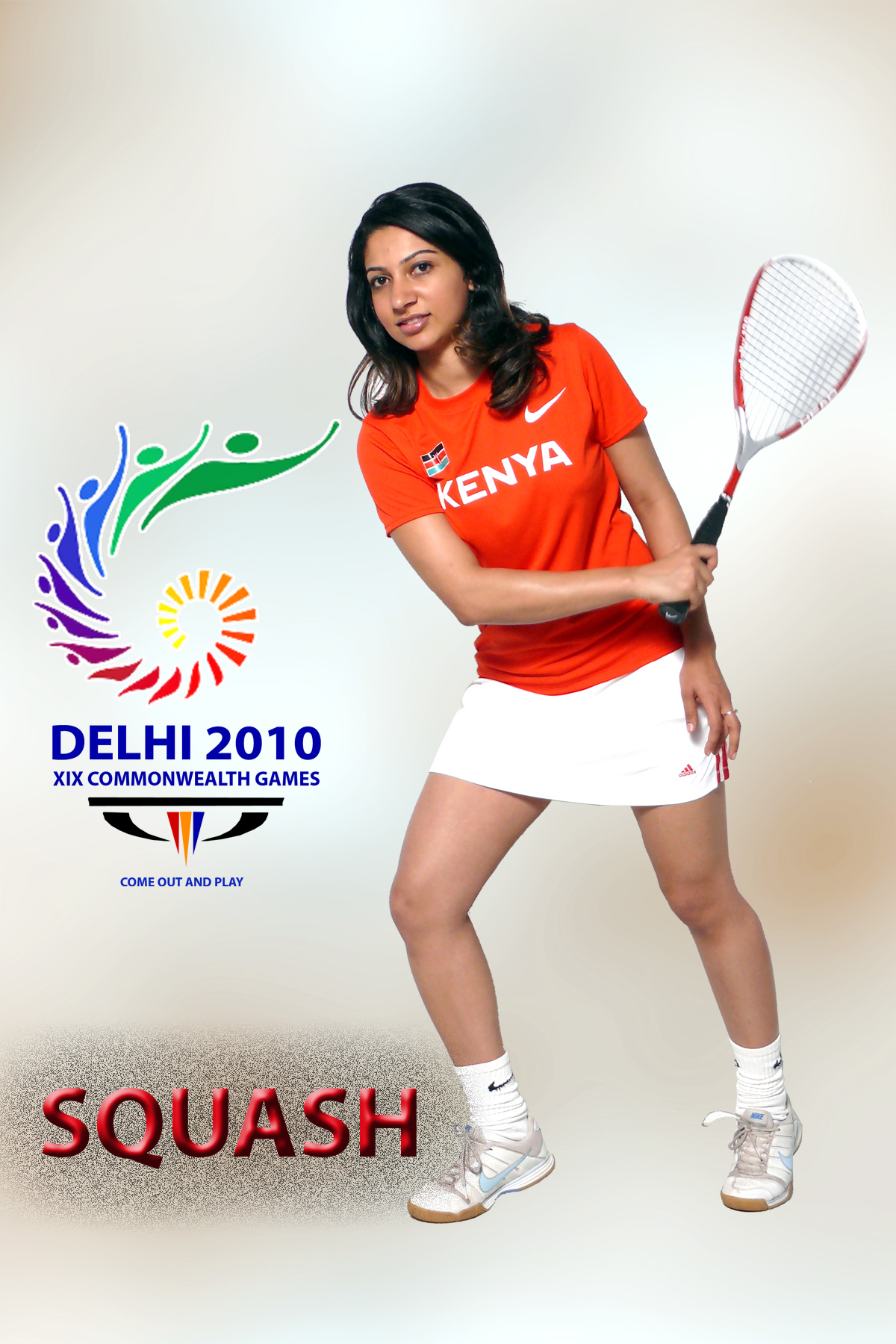 Safina Madhani represented Kenya in Women's Squash at the 2010 Commonwealth Games in Delhi. Photo: Courtesy of Safina Madhani