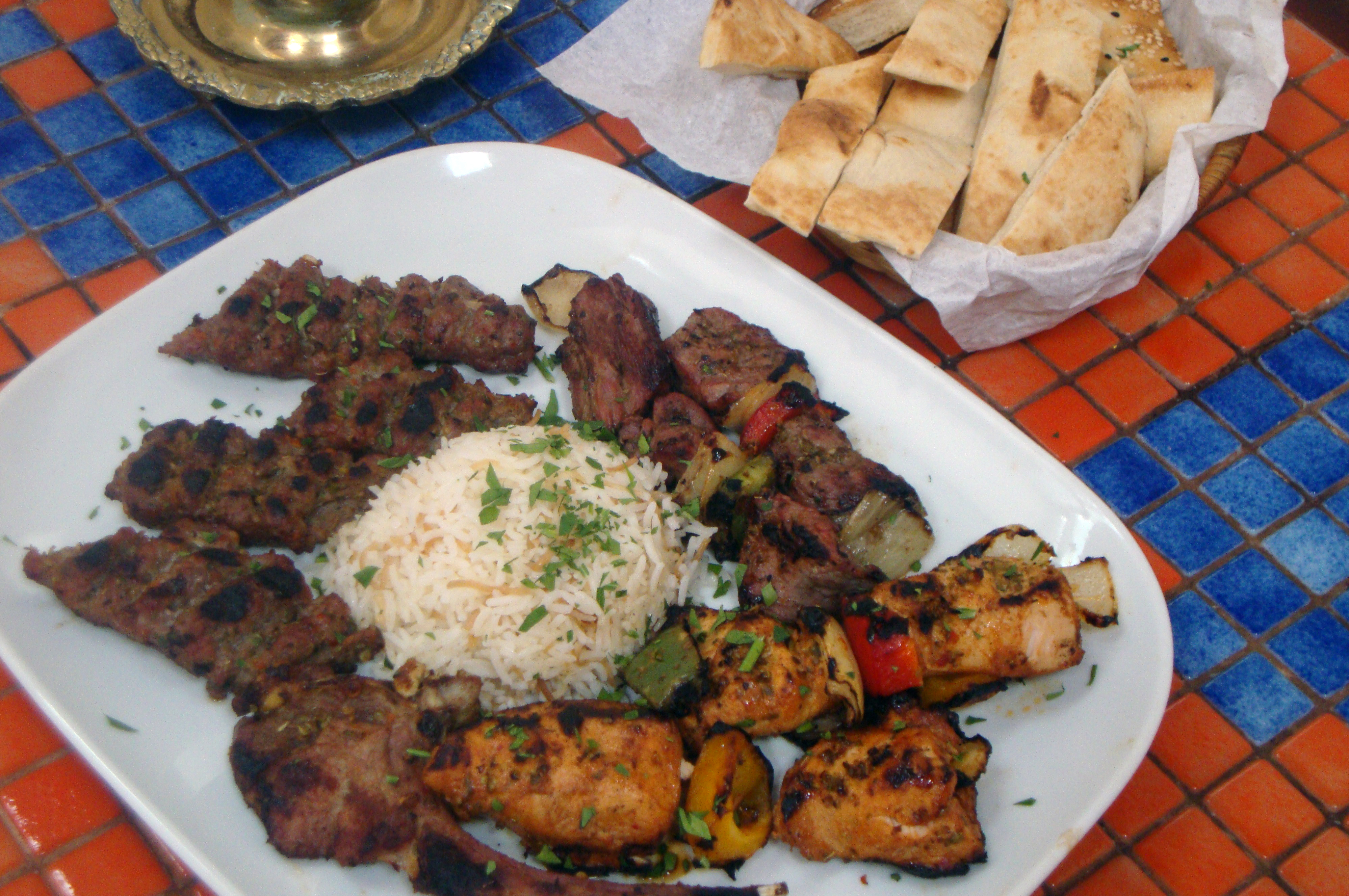 Grill lean meats and serve with salad and unbuttered naan. Photo: Nazma Lakhani