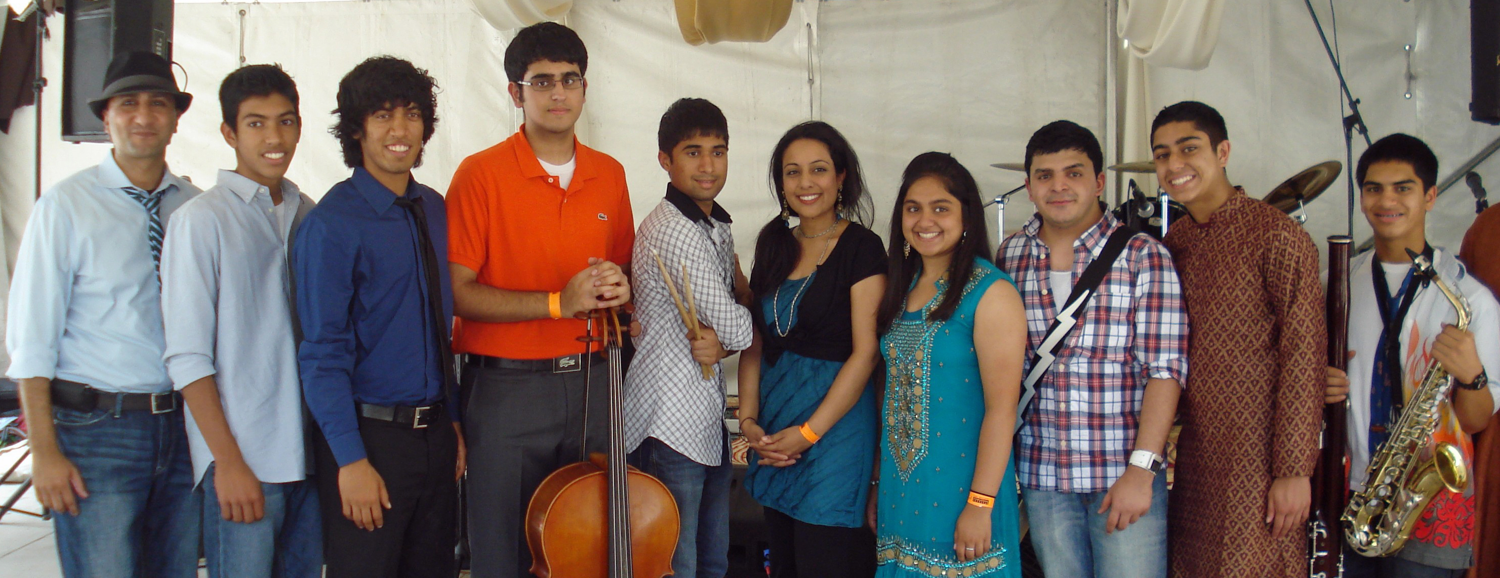 Members of the Ismaili Musical Ensemble pose for a group photograph following their performance at the Houston International Festival earlier in 2011. Photo: Sohil Maknojia