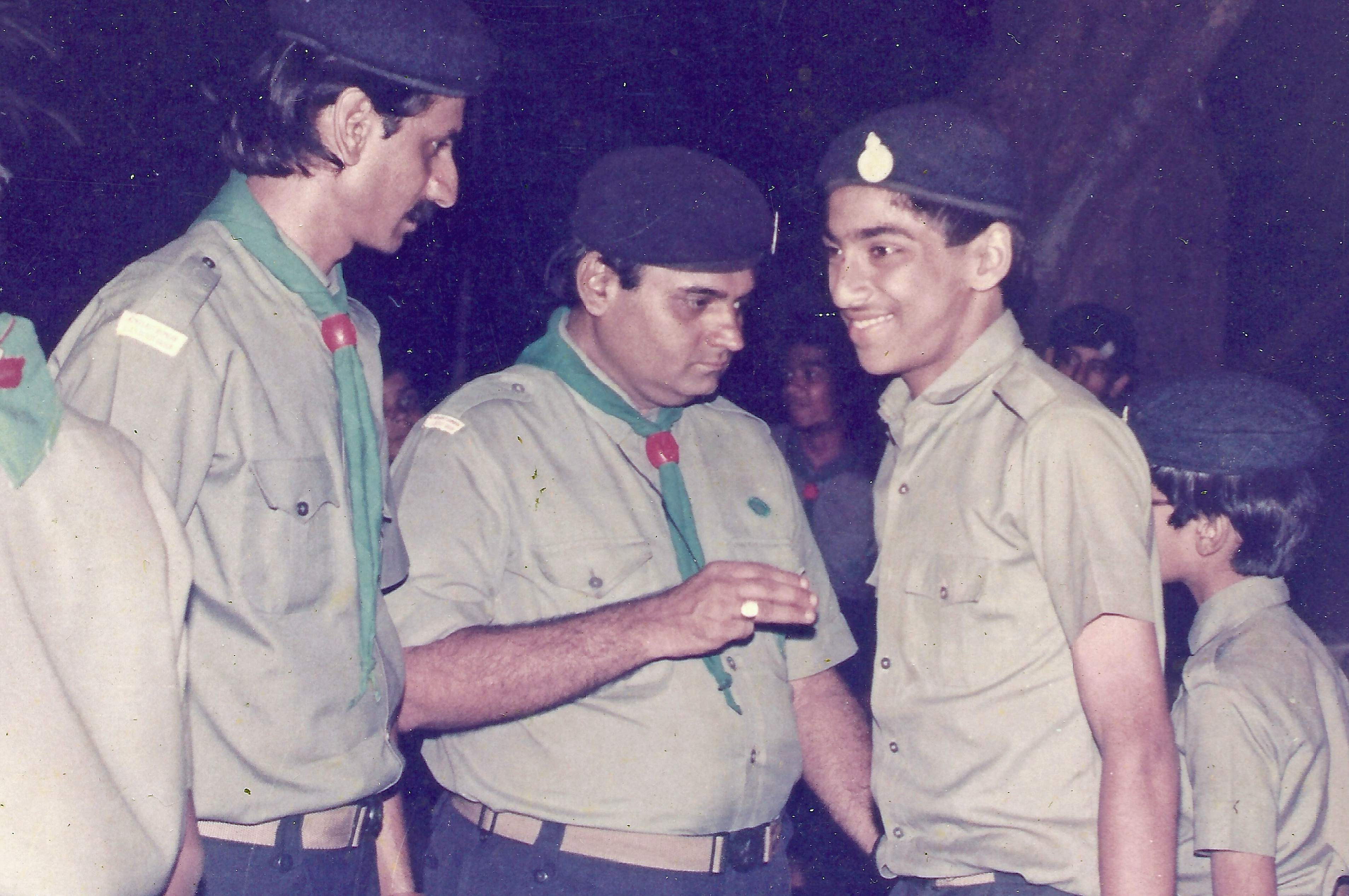 Karim Moledina with other scouts at a Darkhana Scout Group gathering in Mumbai. Photo: Courtesy of Karim Moledina