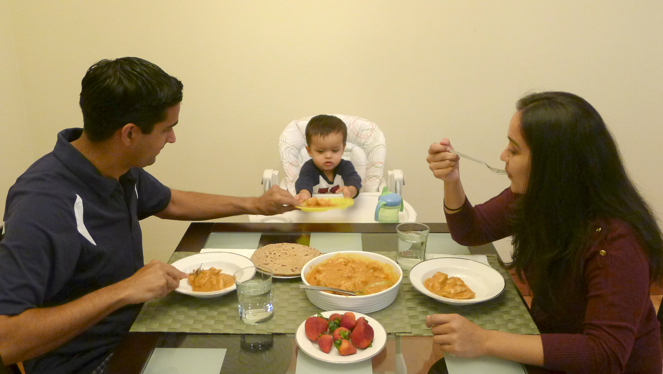 Eating at the table with your children instils healthy habits. Photo: Courtesy of Rabia Cumber Samji