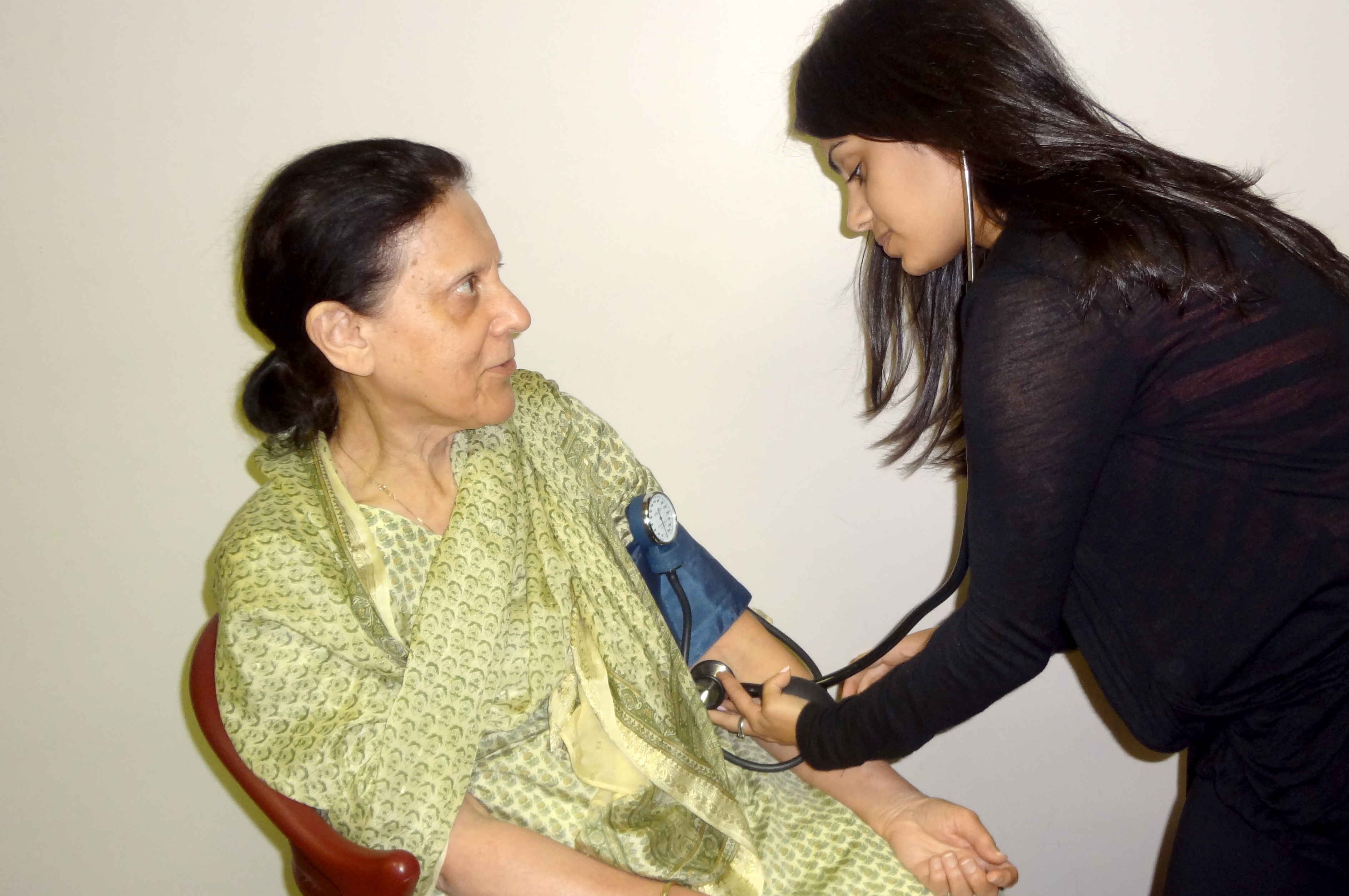 Having your blood pressure checked regularly can help you to monitor your risk level for non-communicable diseases. Photo: Raeesa Bhanji
