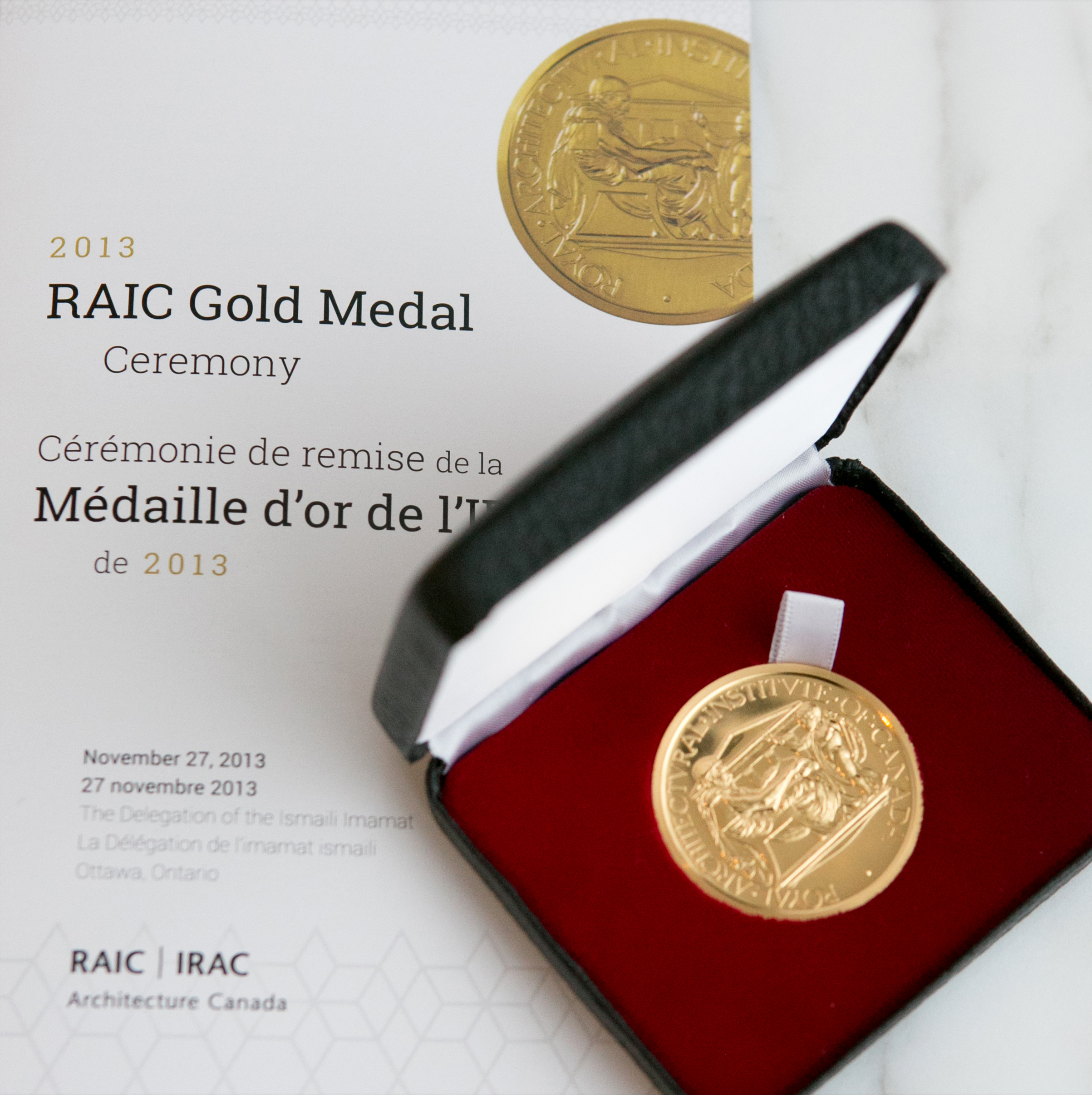 The Gold Medal is the highest honour bestowed by the Royal Architectural Institute of Canada. Photo: Mo Govindji