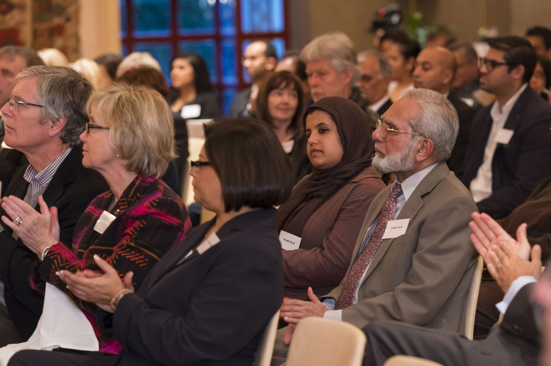 The audience listens attentively as John Stackhouse argues that despite its entrenchment in the national identity, Canadians should not take pluralism for granted. Photo: Azim Verjee