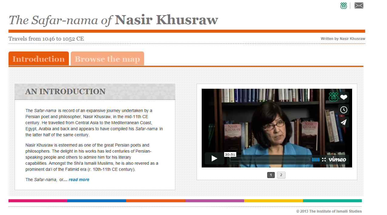 "Watch videos of IIS scholars discussing the life and times of Nasir Khusraw, and sharing their personal readings of his ""Safar-nama"". Photo: Courtesy of The Institute of Ismaili Studies"