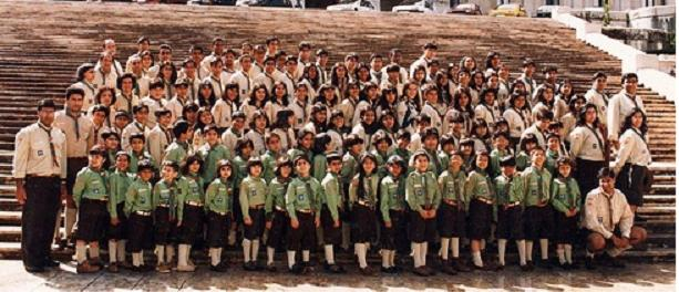 Group photo of Scout Movement in Portugal in 1999. Photo: Courtesy of Ismaili Council for Portugal