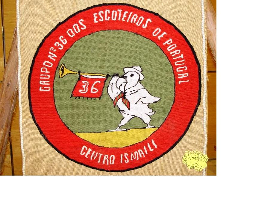 Emblem of the Scout Movement in Portugal. Photo: Courtesy of Ismaili Council for Portugal