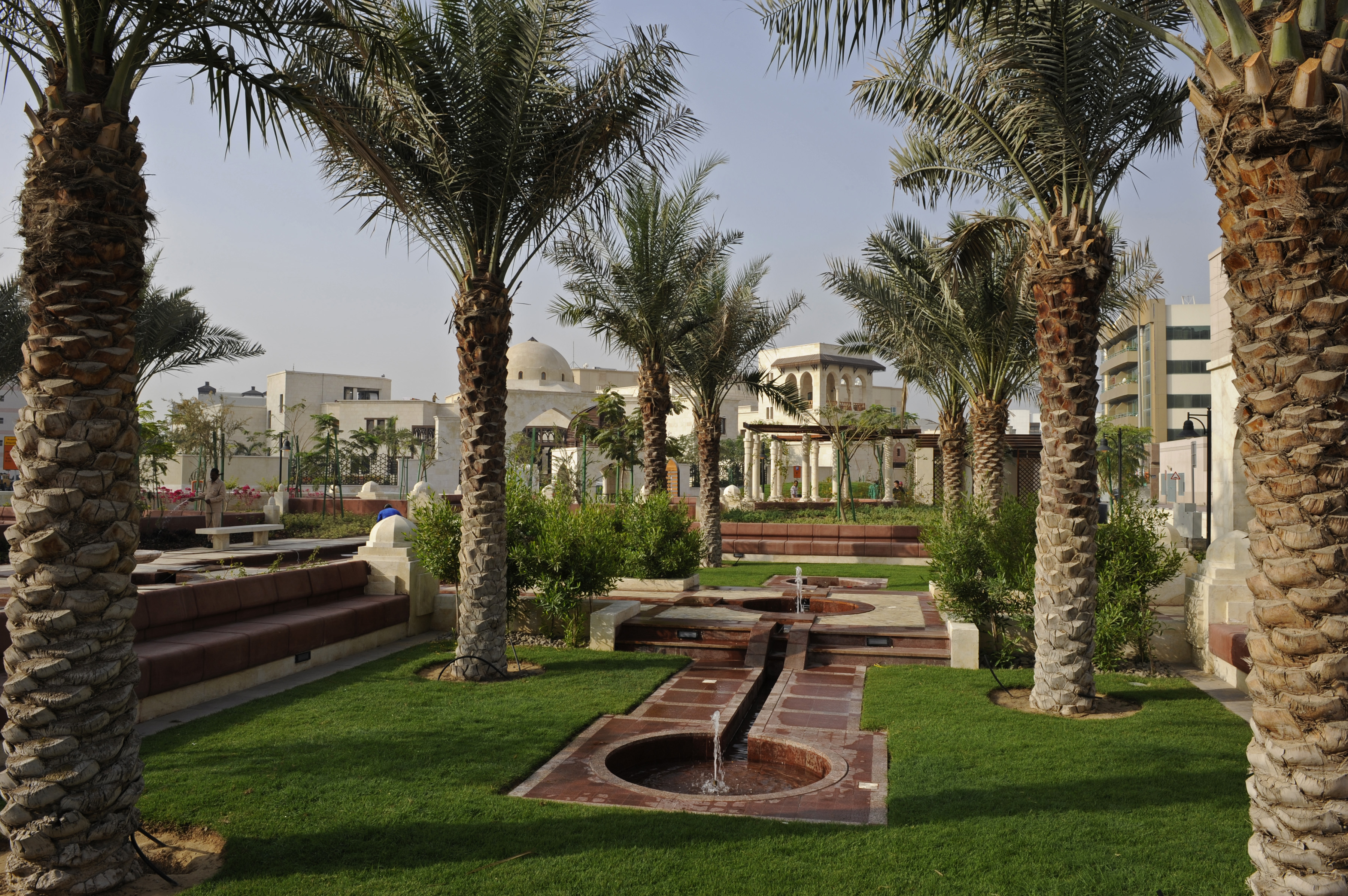 The beautiful landscaped gardens in a serene setting reflect an Islamic tradition. Photo: Gary Otte