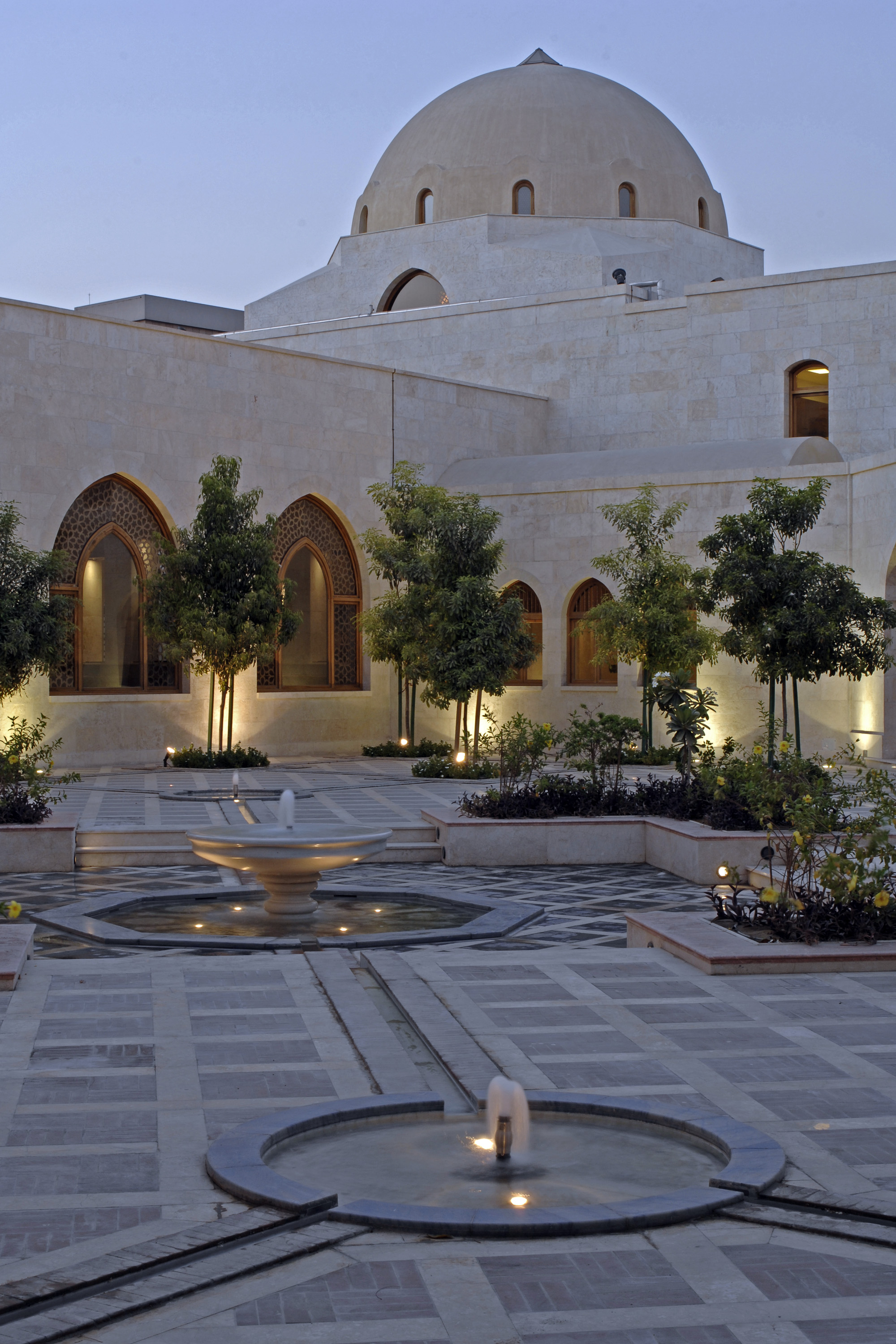 The main courtyard of the Ismaili Centre Dubai. Photo: Gary Otte