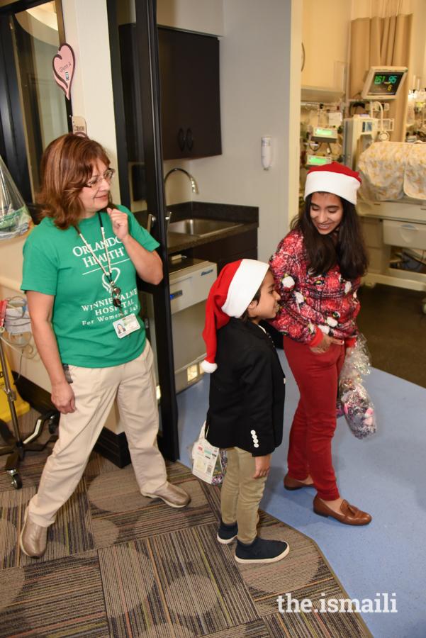 Maya on her way to visit children at NICU of Orlando Health Winnie Palmer Hospital for Women & Babies.