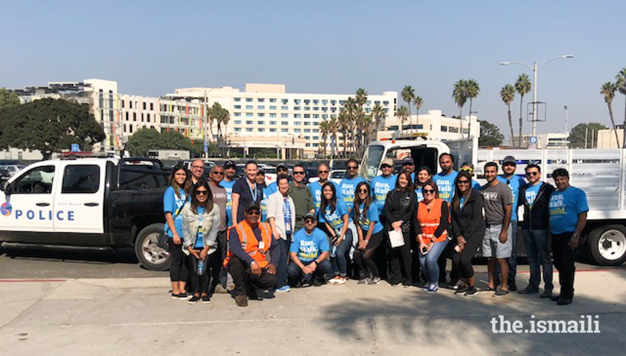 AKF and I-CERV volunteers with the Santa Monica Police Dept.