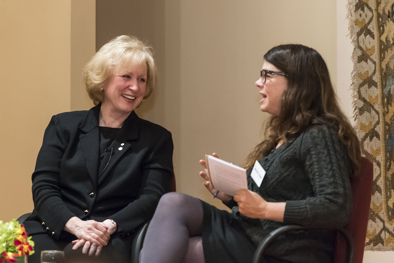 Kim Campbell sits down with Margot Young, Associate Professor of Law at the University of British Columbia, for an on-stage conversation following the Ismaili Centre lecture. Azim Verjee