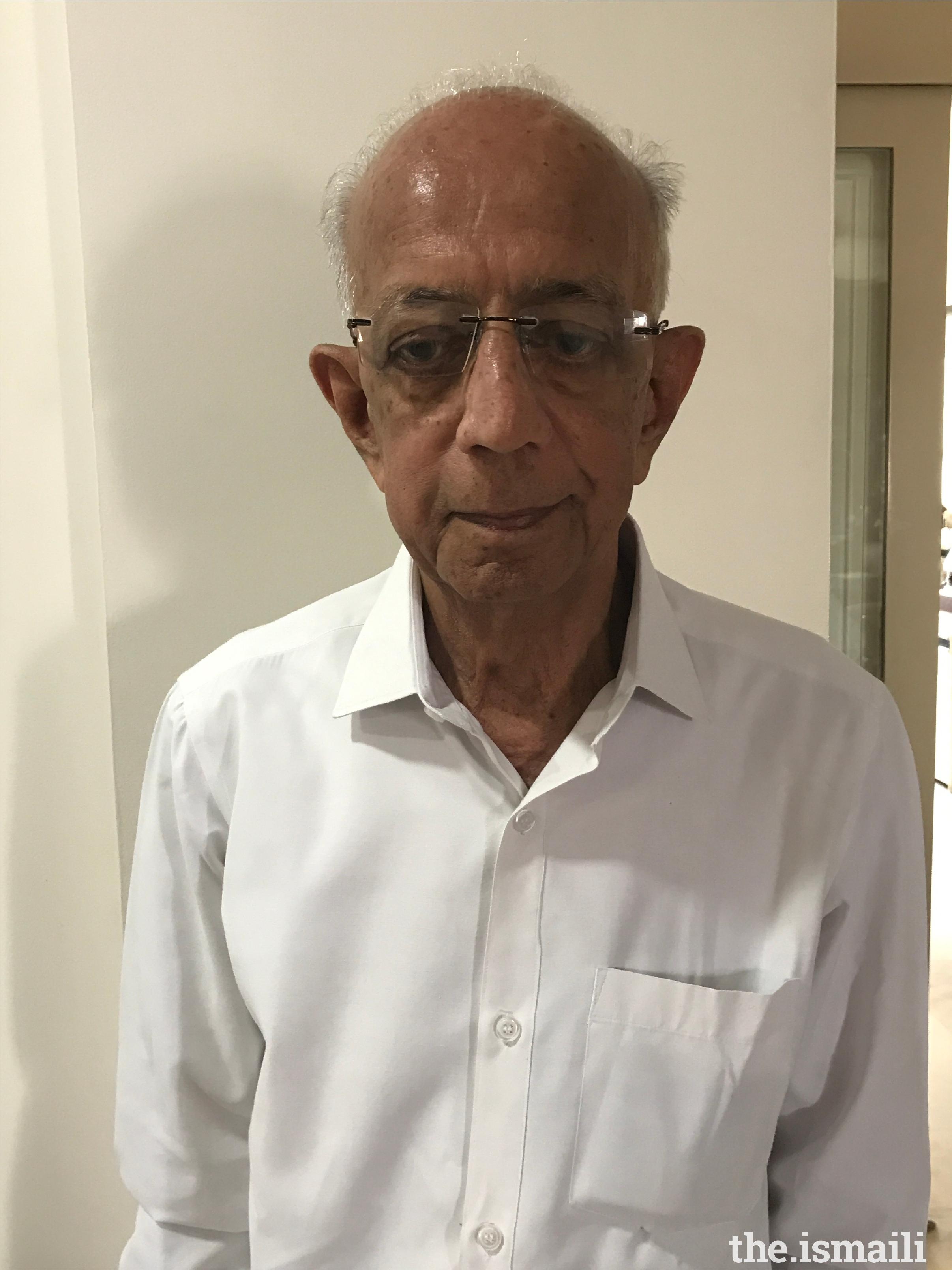 Alijah Kabiruddin Moosabhai Dhamani, 84 years, Hyderabad