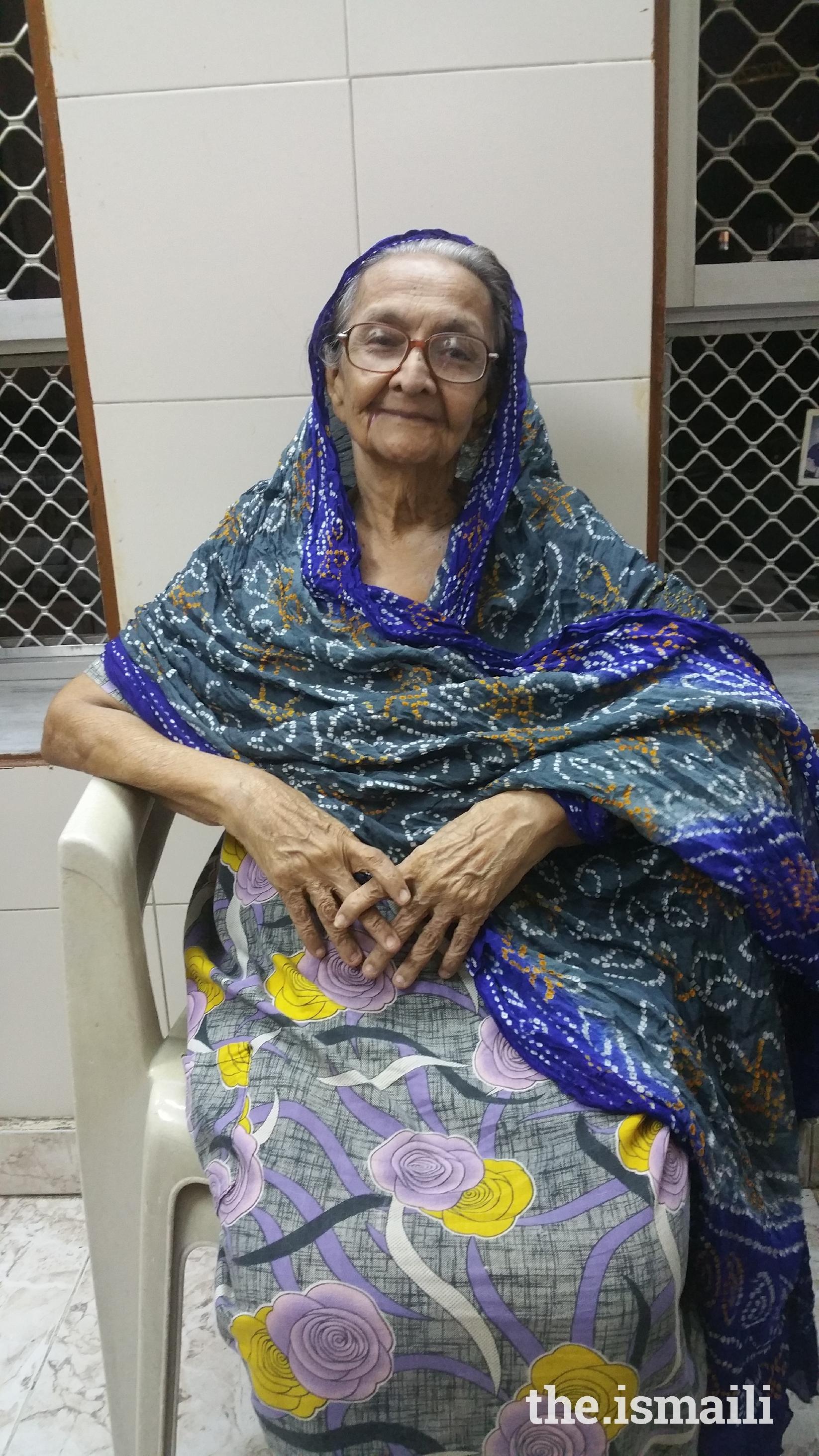 Huzur Mukhyani Roshanbai Ibrahim Rajani, 85 years, Mumbai