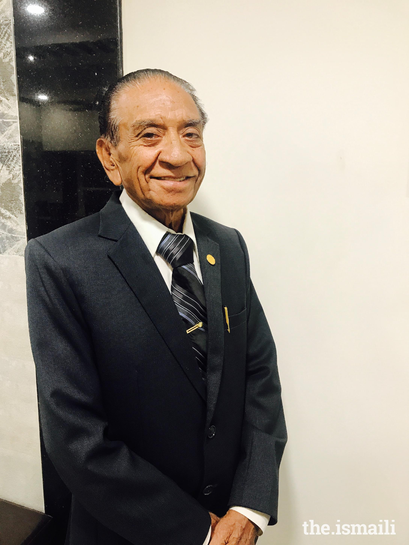 Rai Sadruddin Hasanali Lakhani, 82 years, Hyderabad