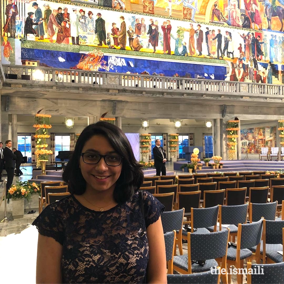 Asma had the chance to attend the Nobel Peace Prize Ceremony 2018 as part of the Telenor Youth Forum competition.