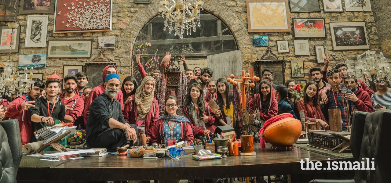 HDT participants at the Commune Artist Colony, a centre for arts and entertainment in Karachi.