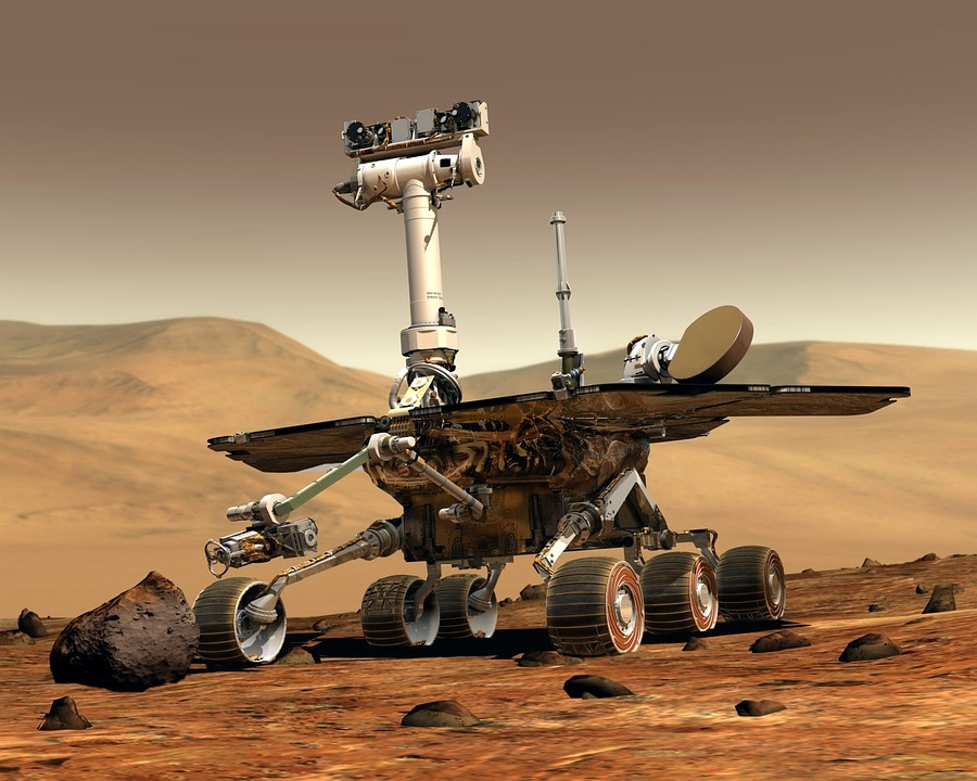 The Mars Rover: An example of robotics used in space exploration.