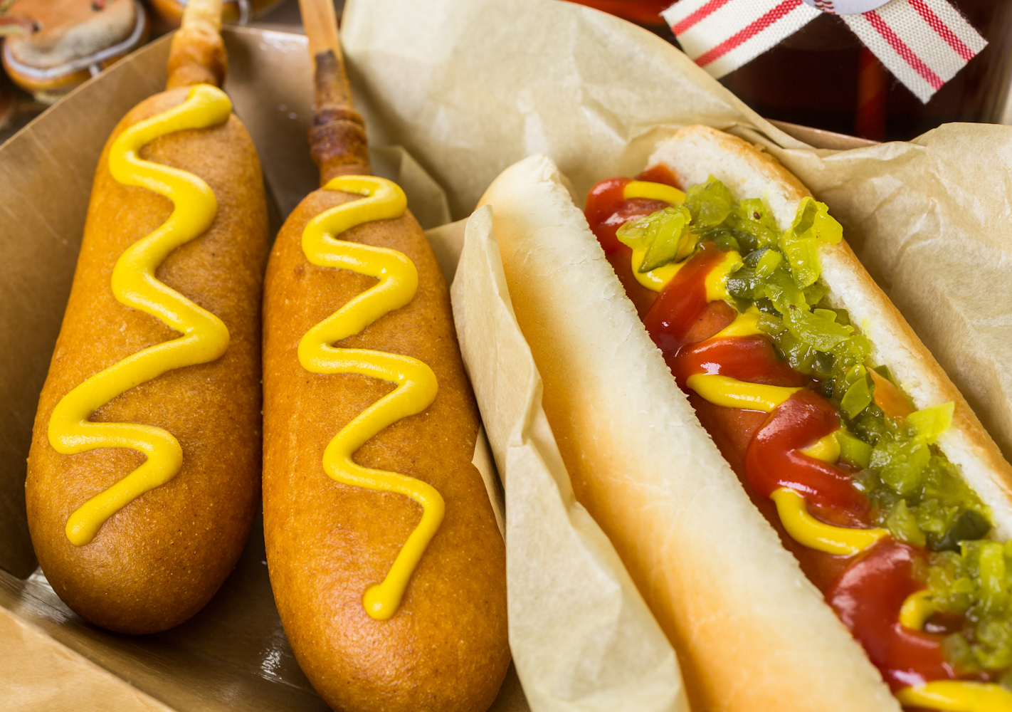 Whether it's a local fair, or a game at a famous sports arena, corn dogs are a staple of the American diet.