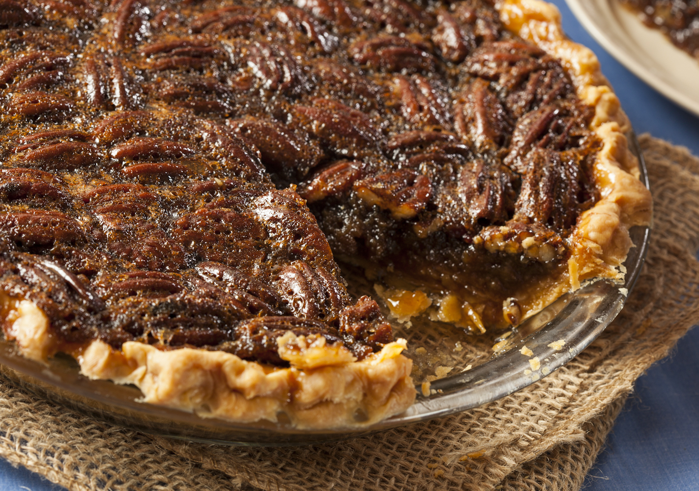 Crunchy on the outside and gooey on the inside make the pecan a delectable dessert