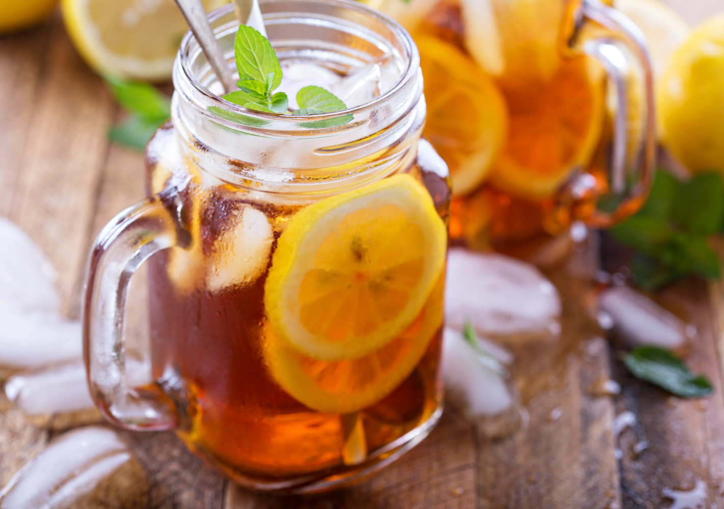 Nothing feels like summer more than a chilled glass of sweet iced tea!