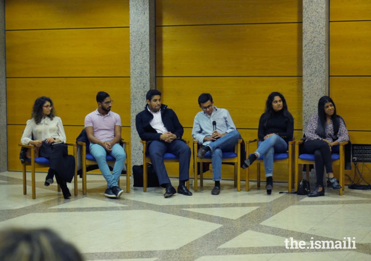 A panel discussion at the Vocational Guidance event featured young Ismaili professionals from a variety of career paths.