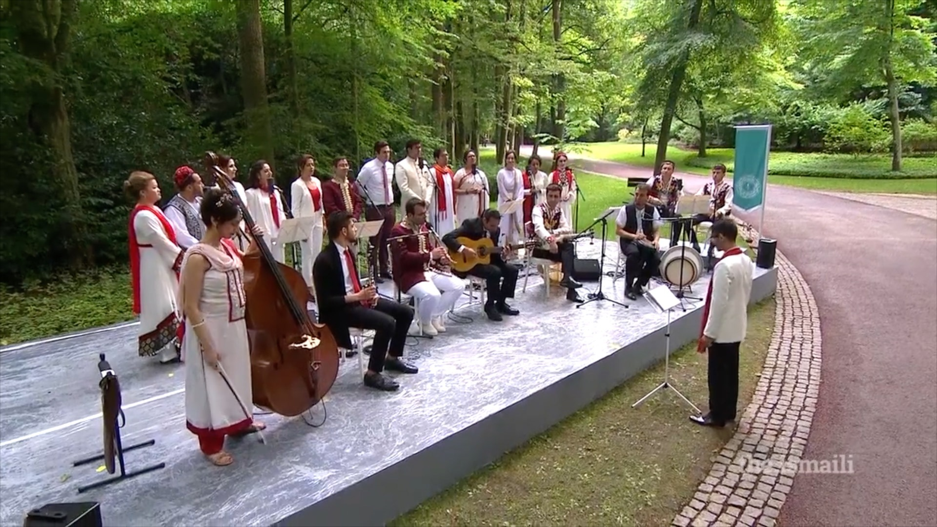 Performing with the Musical Ensemble at the Homage Ceremony