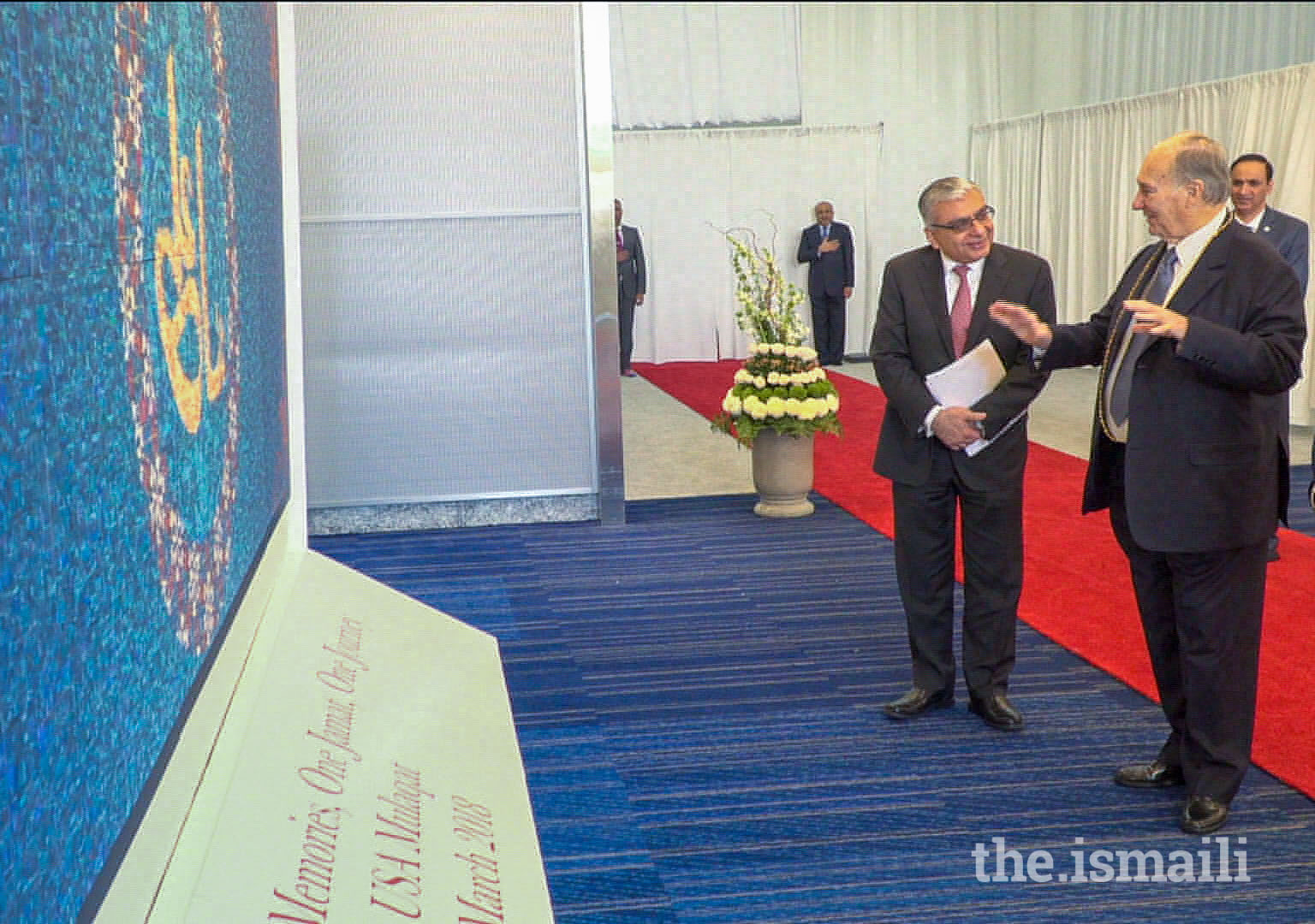 The One Jamat Mosaic — comprising thousands of individual photos into a single, cohesive work of art — was presented to Mawlana Hazar Imam on the morning of Navroz, 21 March 2018, to commemorate his Diamond Jubilee.