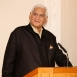 Professor Charles Correa addresses the audience at a gathering held at the Ismaili Centre, London in his honour.