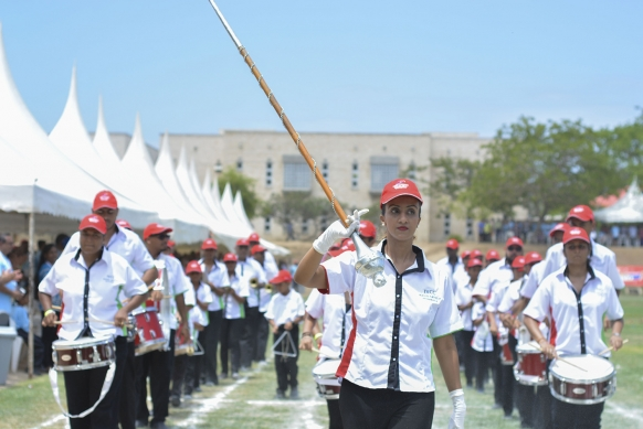 The Aga Khan Band Mombasa at the opening of the 2017 Africa Unity Games.