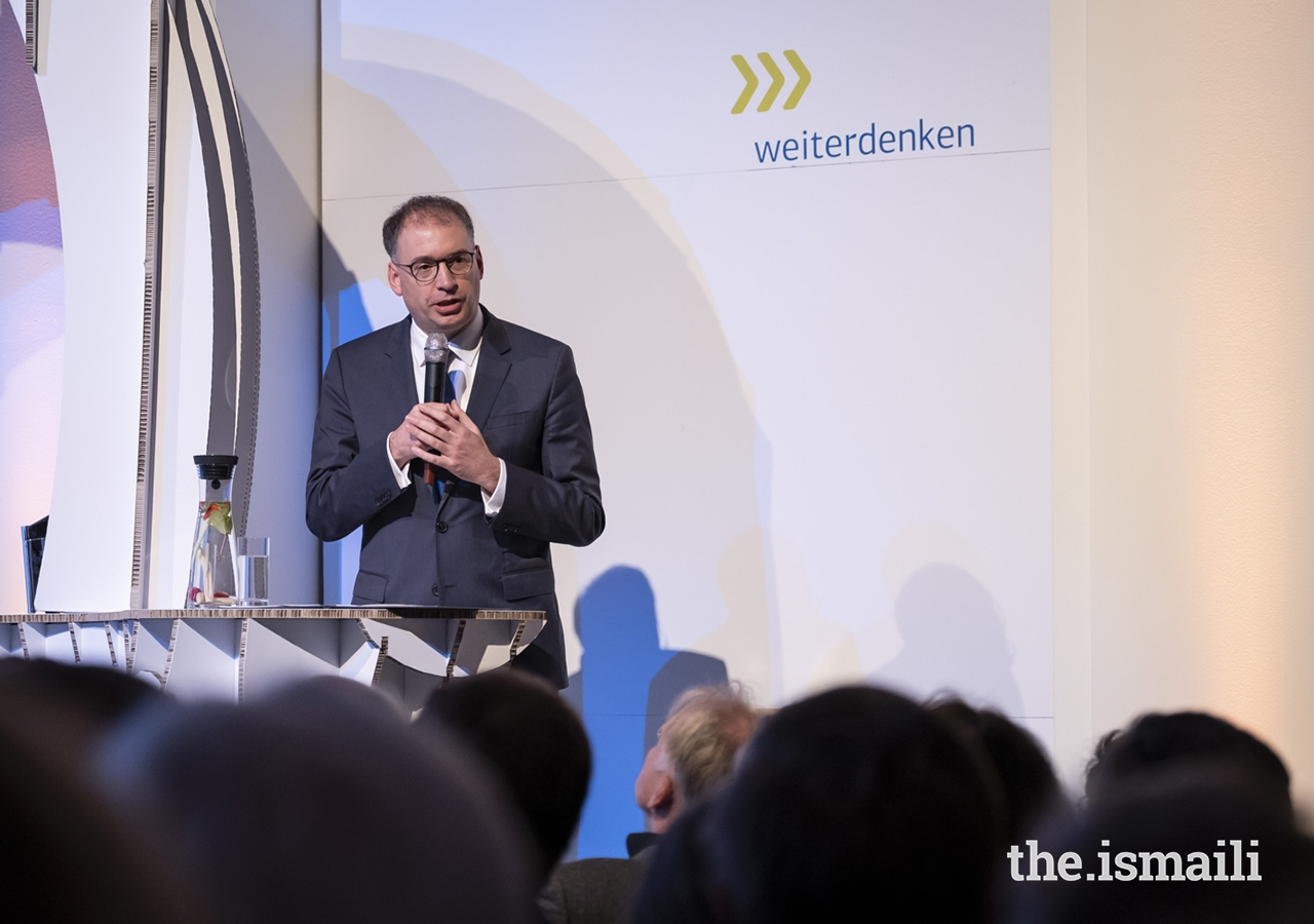 "Niels Annen, Minister of State at Germany's Federal Foreign Office, addresses guests gathered at the event entitled ""Fragile States Thinking Ahead"" in Berlin."