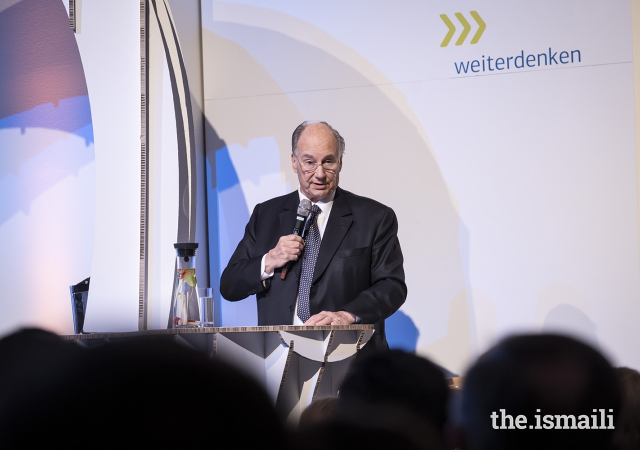 "Mawlana Hazar Imam delivers remarks at the event entitled ""Fragile States Thinking Ahead"" in Berlin."