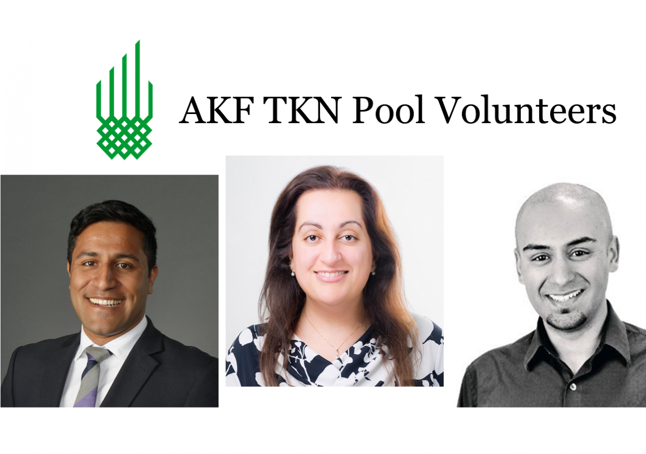 Featured in this story are (left to right) Adam Jutha, Huma Pabani, and Ali Thanawalla, who are among 28 TKN volunteers serving on AKF's TKN Pools.