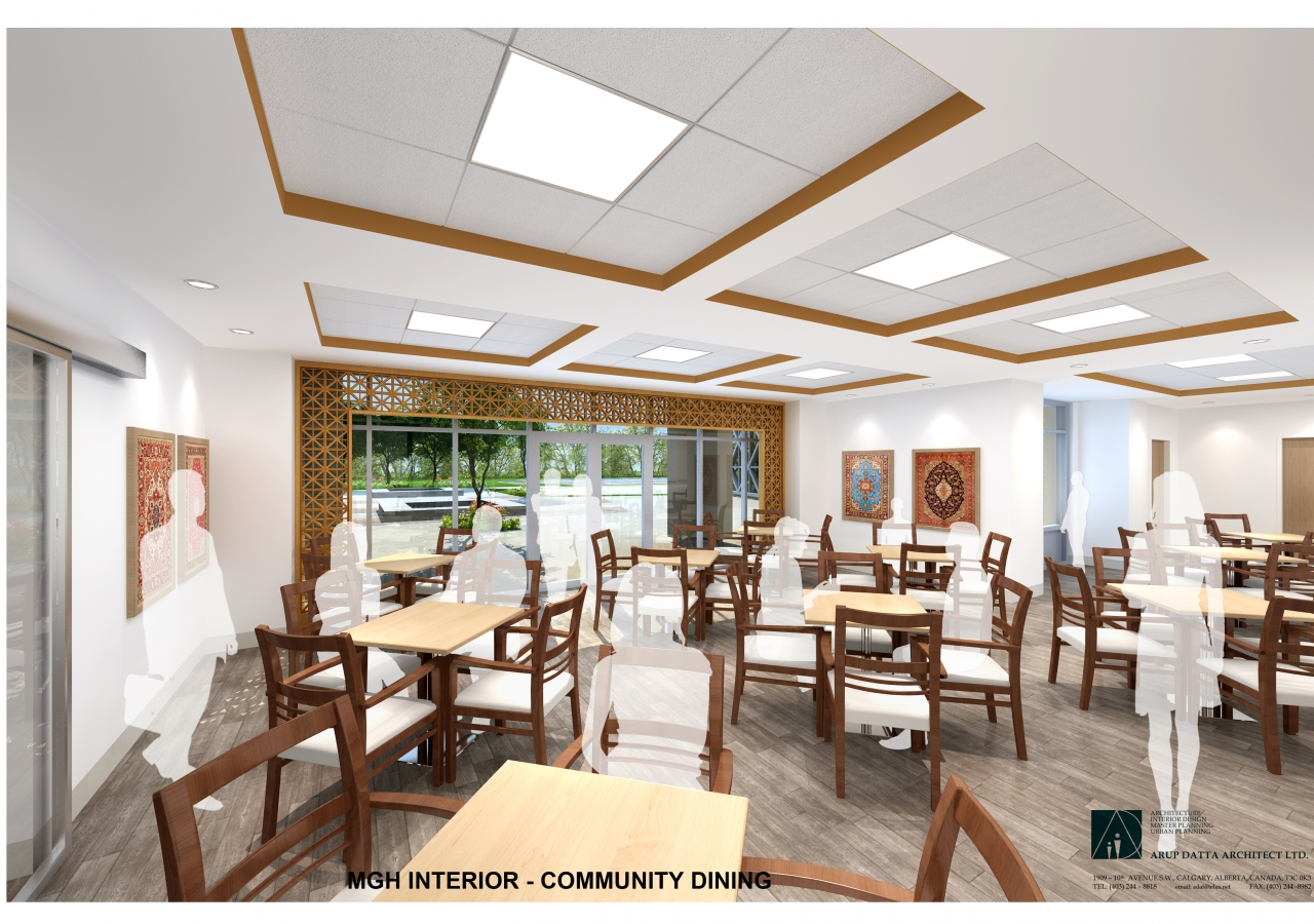 Phase II  Generations Campus, Skyview Ranch Calgary, Community Dining Rendering