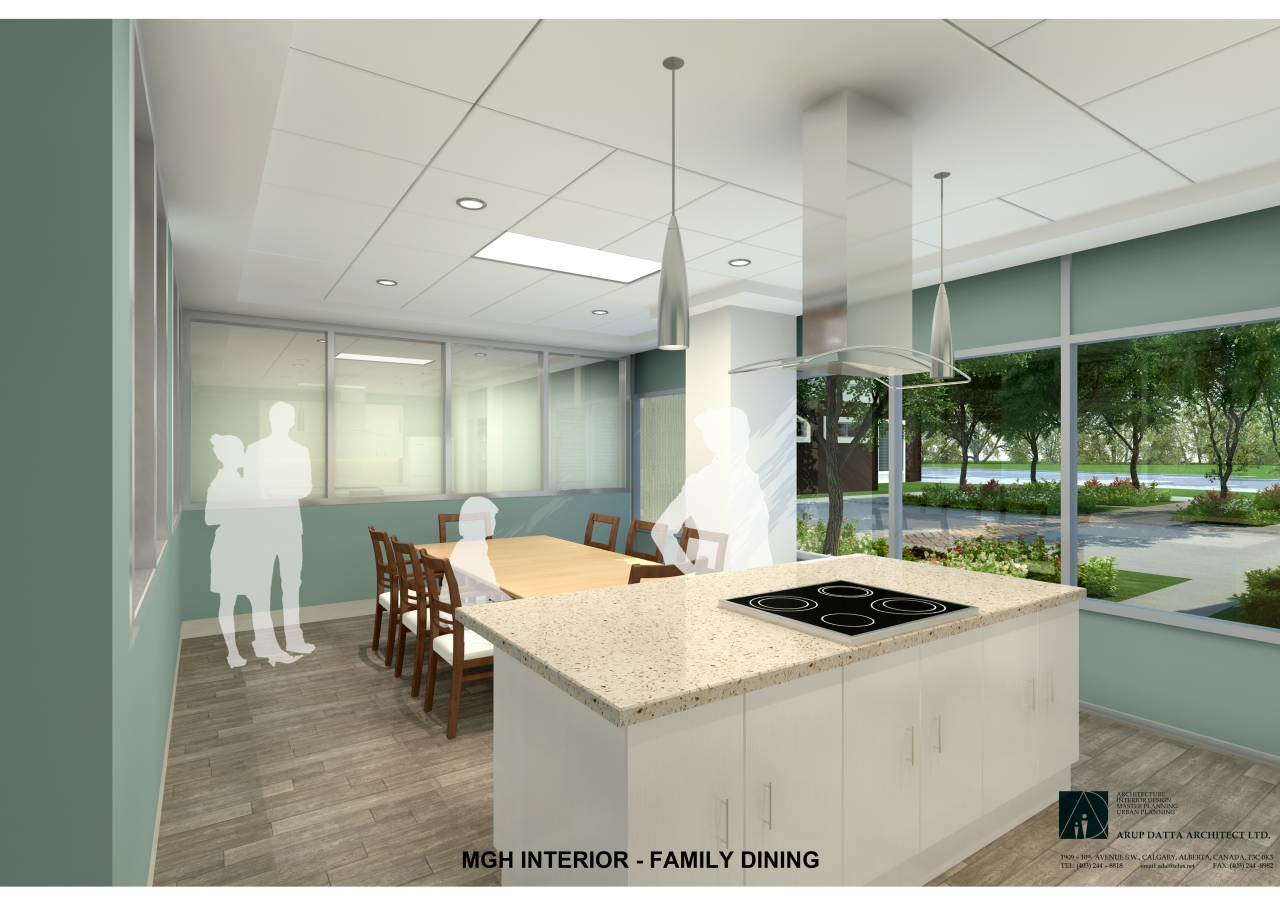 Phase II Generations Campus, Skyview Ranch Calgary, Family Dining Space Rendering