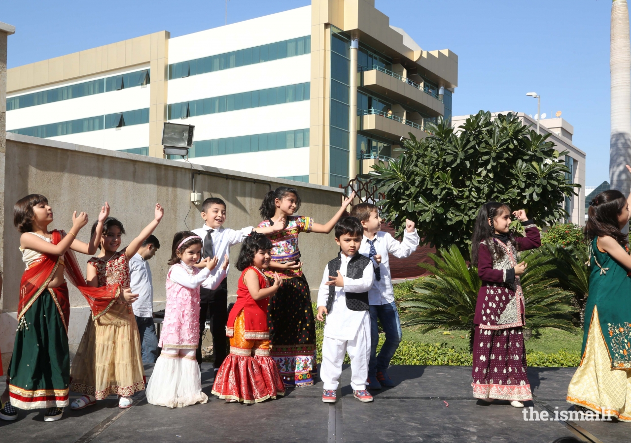 The youth entertain the Jamat during the Mela